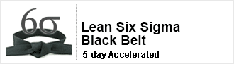 Lean Six Sigma Black Belt Certification Five Days Accelerated Training Course delivered by pdtraining in Manhattan